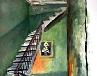 Galerie 26) Im Szimpla Kert Club oder Stairs to heaven, 70 x 50 cm, Acryl auf Papier, 2008.jpg anzeigen.